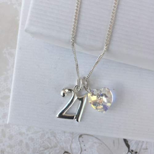 21st birthday silver jewellery gift